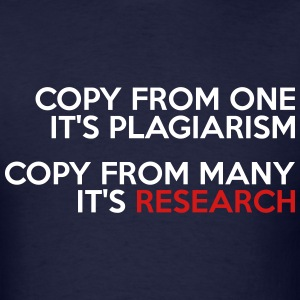 PLAGIARISM vs RESEARCH MEN T-SHIRT - Men's T-Shirt
