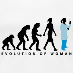 evolution_chemikerinbiologin_mta_042015_ Women's T-Shirts