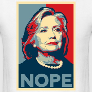 Hillary Clinton NOPE Election Shirt - Men's T-Shirt
