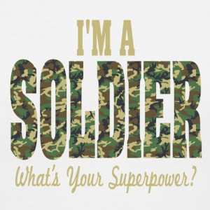 I'm A Soldier What's Your Superpower? Women's V-Ne - Women's V-Neck T-Shirt