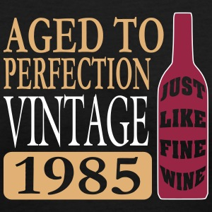 Vintage 1985, 30th Birthday Women's T-Shirts - Women's V-Neck T-Shirt