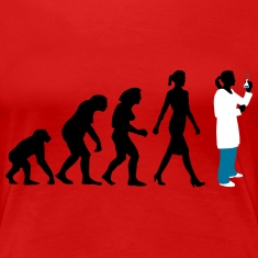 evolution of woman Chemist, biologist, physicist Women's T-Shirts