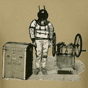 Vintage Diver and Pump Advertising Illustration - Men's T-Shirt