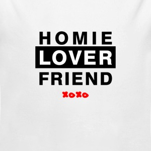 Baby Homie Lover Friend  - Long Sleeve Baby Bodysuit