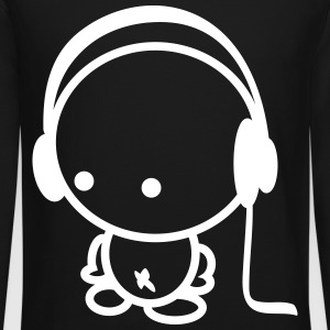 headphones boy Long Sleeve Shirts - Crewneck Sweatshirt