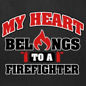 My heart belongs to a firefighter Bags & backpacks - Tote Bag