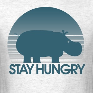 Stay Hungry Hungry Parody hippo - Men's T-Shirt