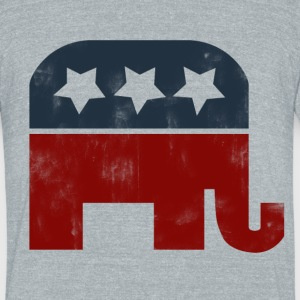 Vintage republican gop elephant logo - Unisex Tri-Blend T-Shirt by American Apparel