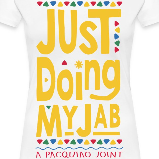PACQUIAO JUST DOING MY JAB Womens Tee by AiReal Apparel