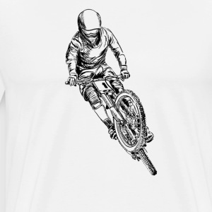 mountain bike cross T-Shirts - Men's Premium T-Shirt