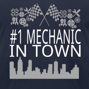 Mechanic in Town T-Shirts - Men's T-Shirt by American Apparel