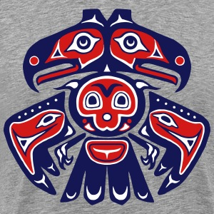 Native American Bird Totem - Men's Premium T-Shirt