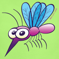 Design ~ Cute Purple Mosquito Baby & Toddler Shirts