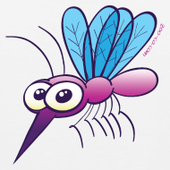 Design ~ Cute Purple Mosquito Tank Tops