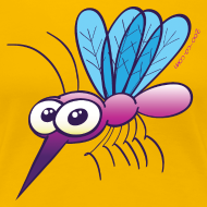 Design ~ Cute Purple Mosquito Women's T-Shirts