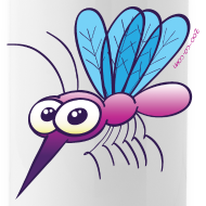Design ~ Cute Purple Mosquito Mugs & Drinkware