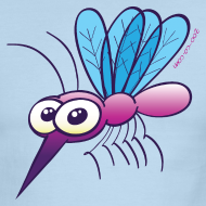 Design ~ Cute Purple Mosquito T-Shirts