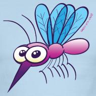 Design ~ Cute Purple Mosquito T-Shirts