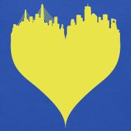 Design ~ Boston Love Blue/Yellow Crewneck Sweatshirt