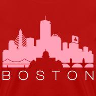 Design ~ Boston Skyline Red Women's T-shirt