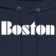 Design ~ Vintage Boston Men's Hooded Sweatshirt