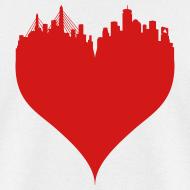Design ~ Boston Love Men's White Red T-Shirt