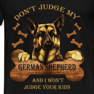German Shepherd T-shirt - Don't judge Shepherd - Men's Premium T-Shirt