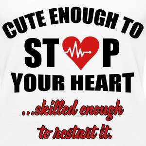 Cute enought to stop your heart - paramedic Tanks - Women's Premium Tank Top