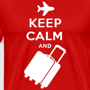 Keep Calm and Carry on Luggage - Men's Premium T-Shirt