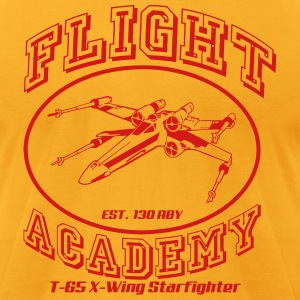 flight academy x wing T-Shirts - Men's T-Shirt by American Apparel