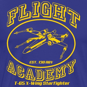 flight academy x wing T-Shirts - Men's Premium T-Shirt