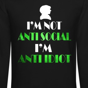 anti social - Crewneck Sweatshirt