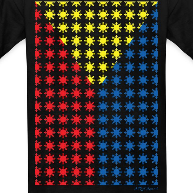 Philippines Filipino Sun Flag Kids Tee by AiReal Apparel