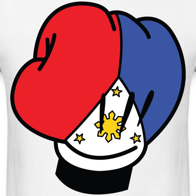 MP Mickey Pacquiao Filipino Flag Boxing Glove Mens Tee Shirt by AiReal Apparel