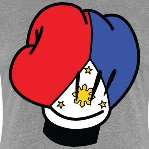 MP Filipino Flag Boxing Glove by AiReal Apparel Women's T-Shirts - Women's Premium T-Shirt