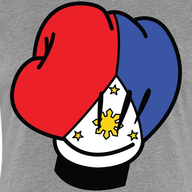 MP Mickey Pacquiao Filipino Flag Boxing Glove Womens Tee Shirt by AiReal Apparel