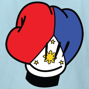 MP Filipino Flag Boxing Glove by AiReal Apparel Kids' Shirts - Kids' T-Shirt