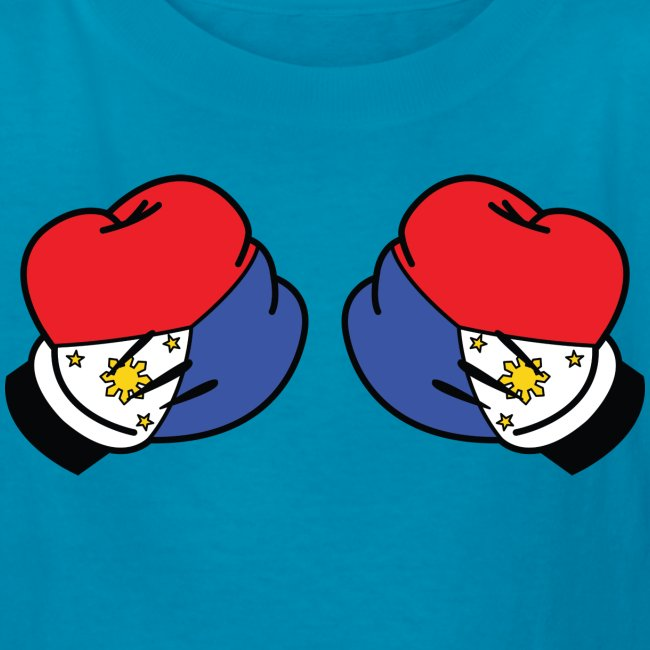 MP Mickey Pacquiao Filipino Flag Boxing Gloves Kids Tee Shirt by AiReal Apparel