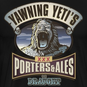 Yawning Yetis Porters and Ales - Men's Premium T-Shirt