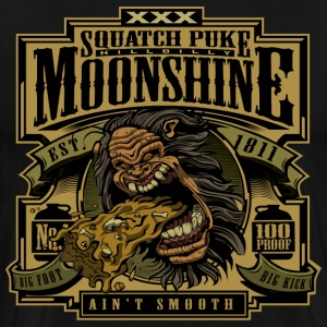 Squatch Puke Hillbilly Moonshine - Men's Premium T-Shirt