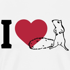 I love Squirrels T-Shirts - Men's Premium T-Shirt