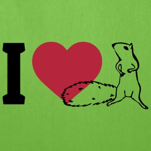 I love Squirrels Bags & backpacks - Tote Bag
