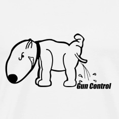 Dog Peeing on Gun Control
