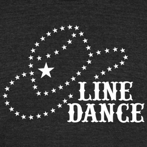 LINE DANCE STAR HAT T-Shirts - Unisex Tri-Blend T-Shirt by American Apparel