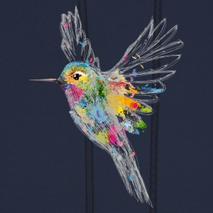 Hummingbird Watercolor Graffiti Hoodies - Men's Hoodie