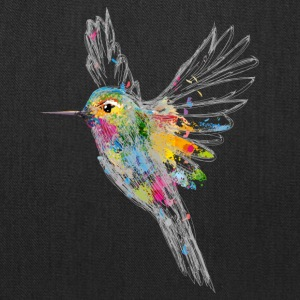Hummingbird Watercolor Graffiti Bags & backpacks - Tote Bag