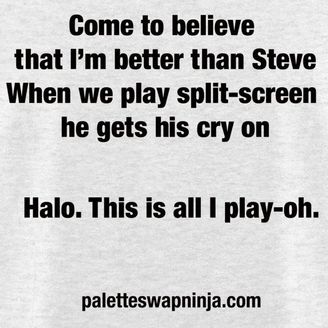 """Palette-Swap Ninja - """"Halo"""" lyric light"""