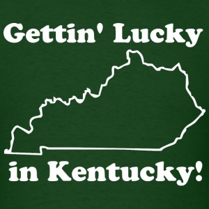 Getting lucky in Kentucky - Men's T-Shirt