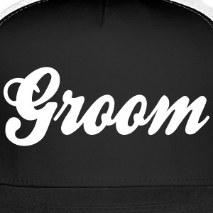 Cool Groom Script Design Caps - Trucker Cap