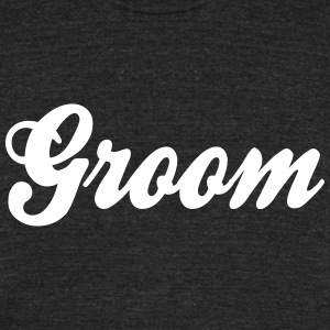 Cool Groom Script Design T-Shirts - Unisex Tri-Blend T-Shirt by American Apparel